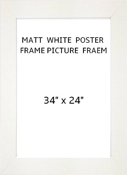 MODERN MATT WHITE POSTER FRAME PHOTO FRAME PICTURE FRAME (White, 34 ...