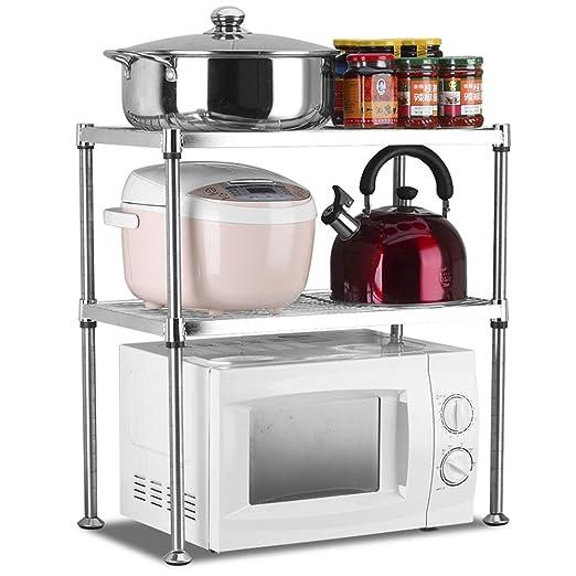 SGMYMX Horno microondas Estante de Cocina de Acero Inoxidable ...