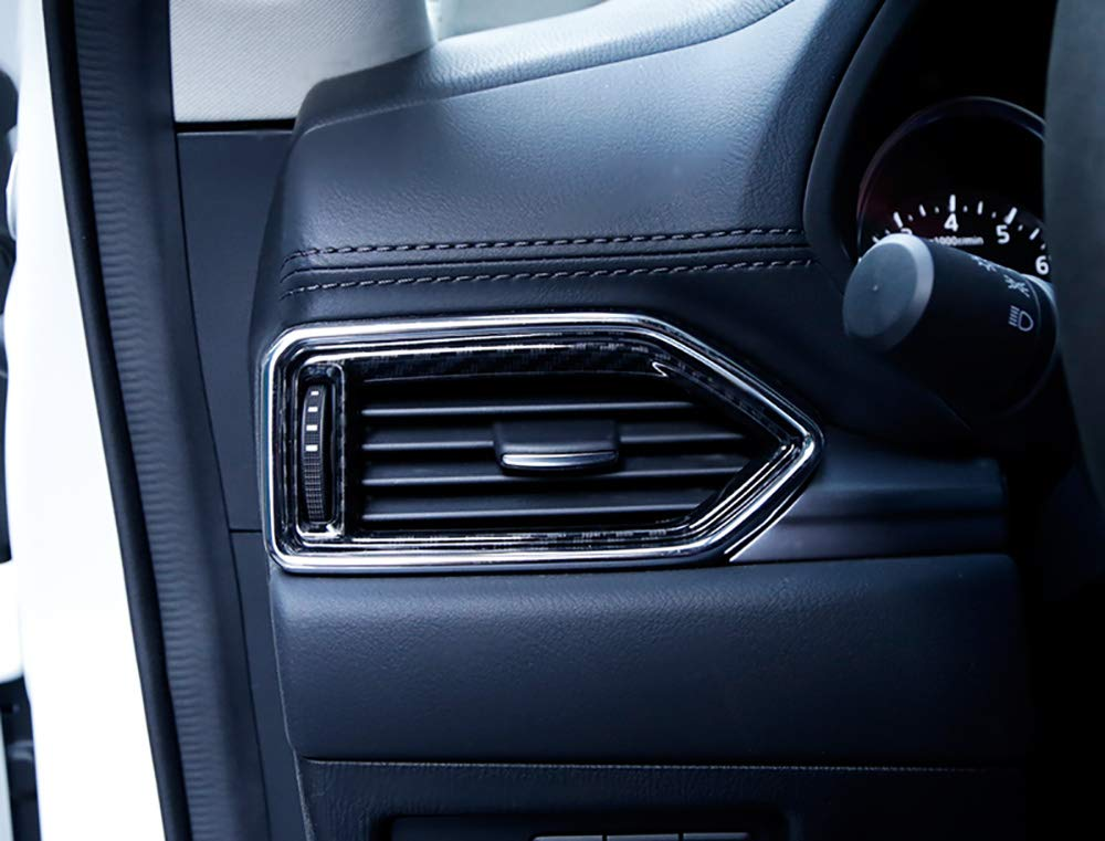 Inner Car Left/&Right Side Air Outlet Vent Trim Bezel for Mazda CX-5 CX5 2017-2018 ABS Matte 2PCS//Set