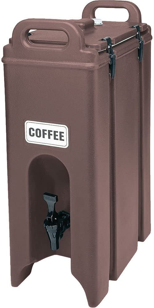 Cambro 500lcd-131 Polyurethane 4.75 Gal. Insulated Beverage Dispenser in Dark Brown