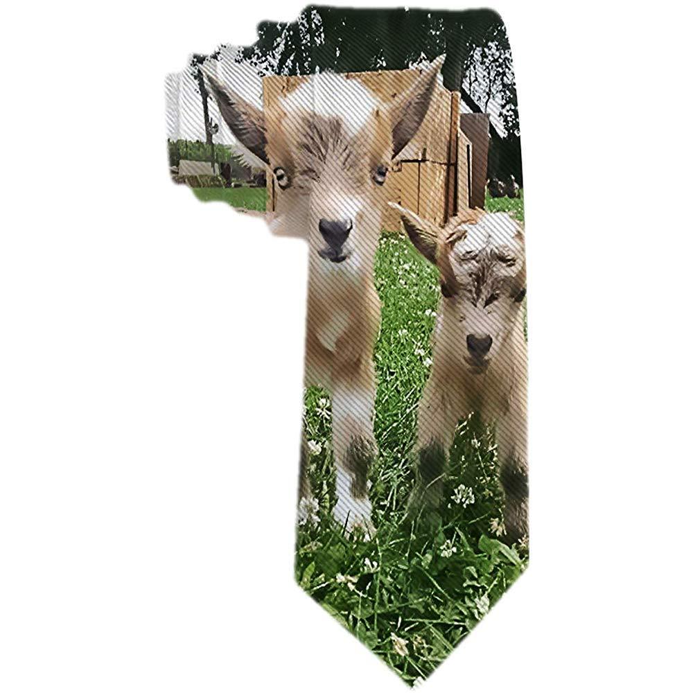 Corbata Clásica Para Hombre Corbata Para Bebé Cabra Marrón Y ...