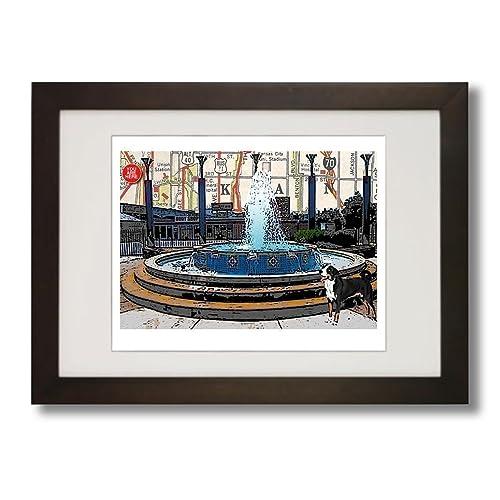Amazon.com: Kansas City, Westside Fountain, art print. Enhance your ...