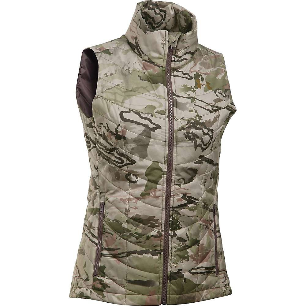 Under Armour Frost Puffer Vest - Women's Ridge Reaper Camo Barren / Metallic Bronze Small