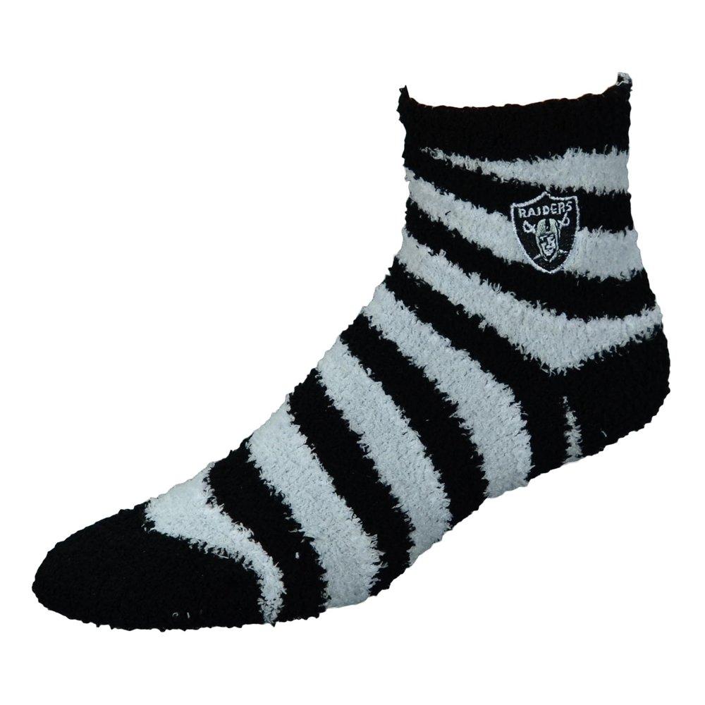 正規品販売! For Candy Bare Feet NFL Candy Raiders Cane Stripe B00NGUIVKC FuzzyスリープSock Medium Oakland Raiders B00NGUIVKC, 須佐町:2f0710f7 --- ballyshannonshow.com