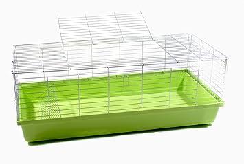 Conejo jaula jaula cobaya Animales Pequeños Rabbit 1,20 m verde ...