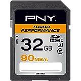 PNY Carte mémoire SDHC Turbo Performance 32 Go Classe 10 UHS-1 U3 avec une vitesse de lecture allant jusqu'à 90 Mb/s