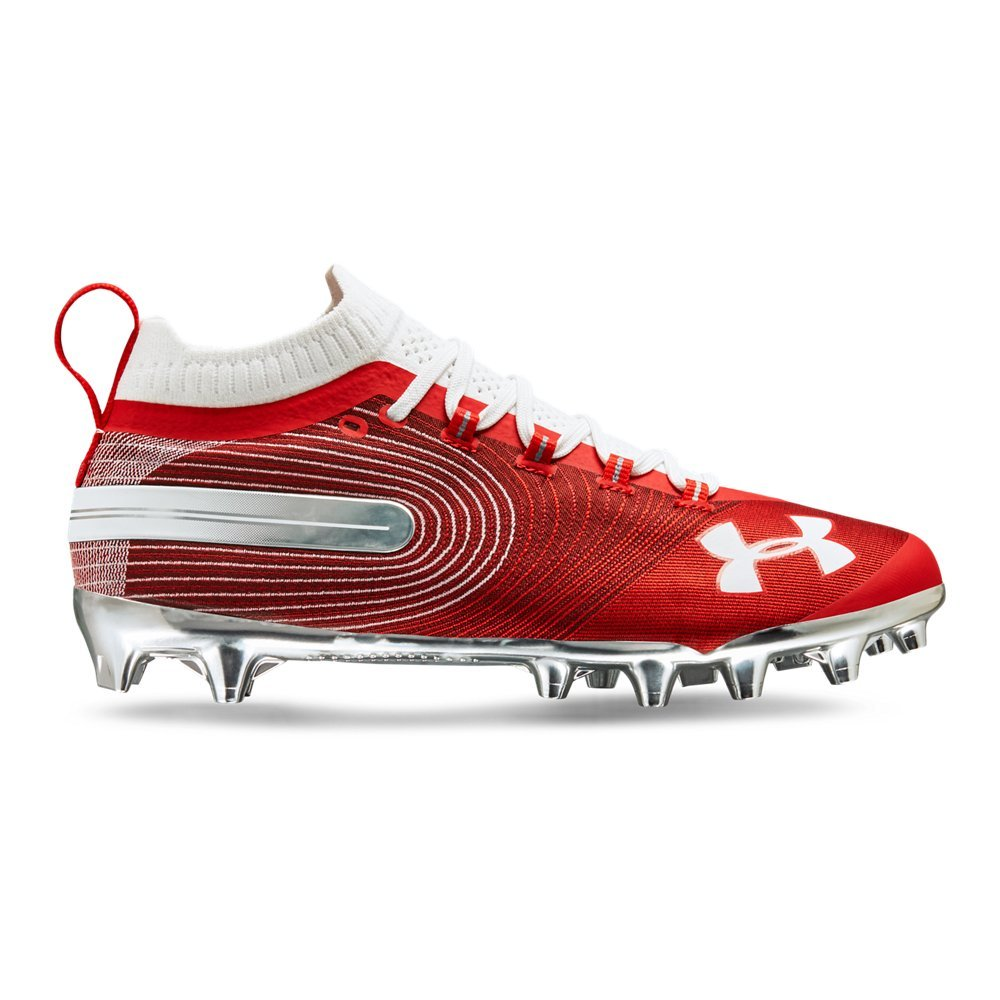 Under Armour Men's Spotlight MC Lacrosse Shoe, Red (600)/White, 8.5