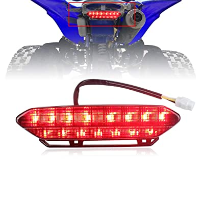 Akmties LED Tail Light Brake Rear Light for Motorcycle 2006-2009 Yamaha YFZ450(Smoked 1pcs): Automotive