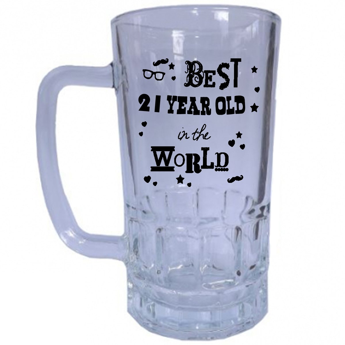Best 21 Year Old In The World Beer Stein Tankard Mug Glass Unique And Funny 21st Birthday Gift Perfect Present Idea For Him Amazoncouk Kitchen