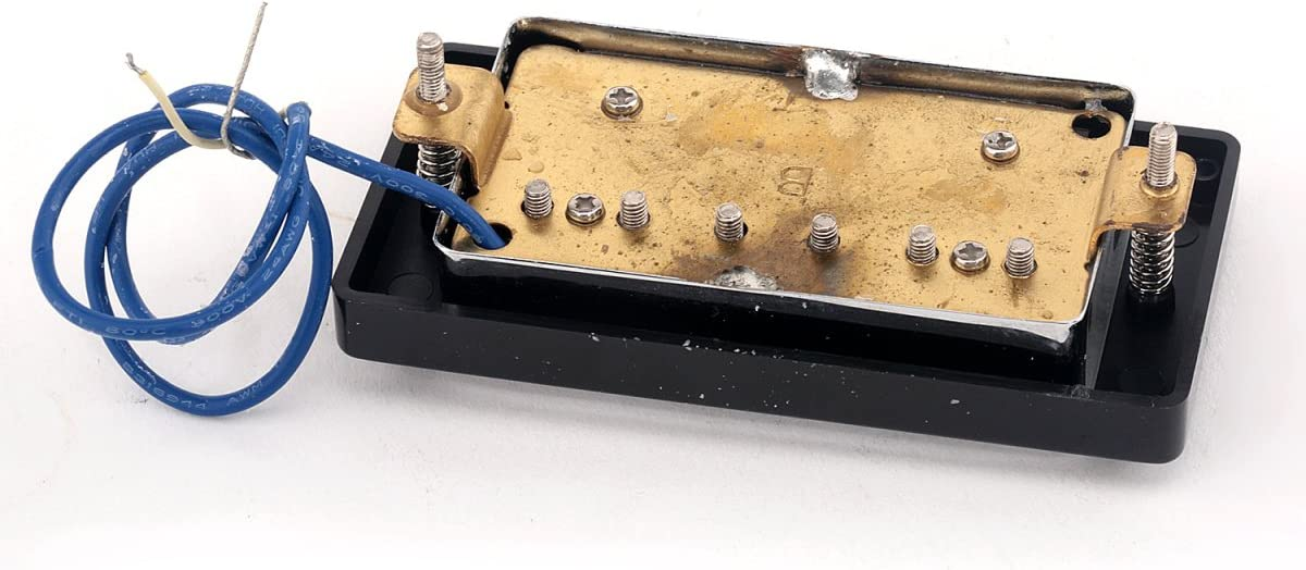 Musiclily Pro 50mm Humbucker Pickup pour manche de guitares LP Style Chrome avec le cadre noir