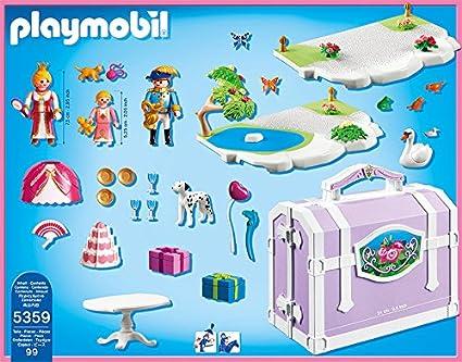 Amazon.com: Playmobil Take Along Princesa cumpleaños Play ...