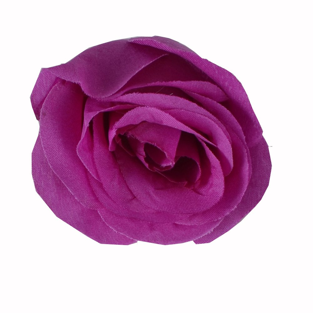 50pcs Artificial Silk 3.1 Rose Head Colorfulife/® Simulation Flower Beautiful Wedding Home Party Decoration Bridal Hair Decorative,9 Colors anglovesmile Dark Purple