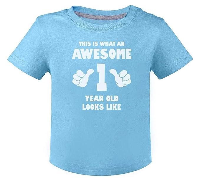 Green Turtle T-Shirts Camiseta para niños - Awesome 1 Year ...