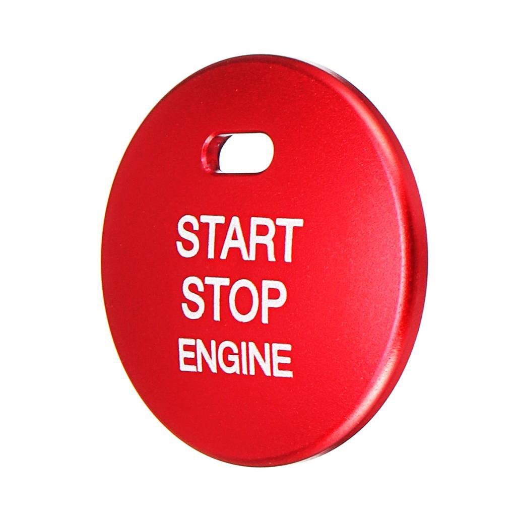 Baoblaze Aluminum Car Engine Start Stop Button Cover Red for Mazda 2 3 6 Cx-3 Cx-5