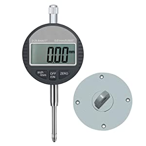 AUTOUTLET Digital Dial Indicator Probe 0.01mm/0.0005'' Range DTI Gauge Dial Test Indicator 25.4mm/1'' High-Precision Measurement Industrial Indicators