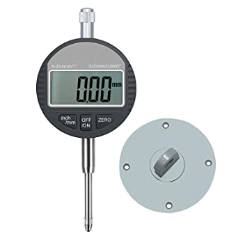 "0.01mm//0.0005 inch Range 0-25.4mm//1/"" Gauge Digital Dial indicator Precision Tool"