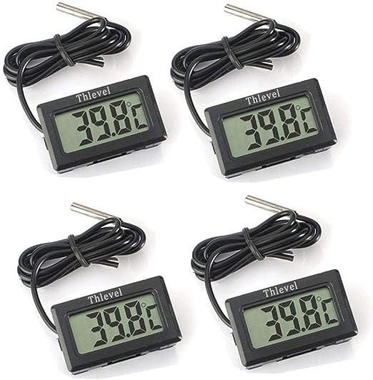 Thlevel 4X Monitor LCD de Temperatura con termómetro Digital y ...
