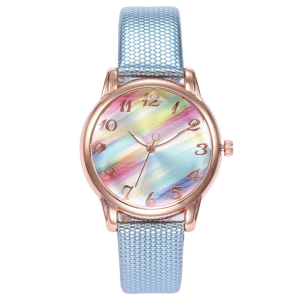 Amazon.com: Clearance Sale! Womens Watch, Iuhan Womens Girls Casual Quartz Leather Band Strap Tie-Dye Watch Analog Wrist Watch Bracelet (F): Cell Phones & ...