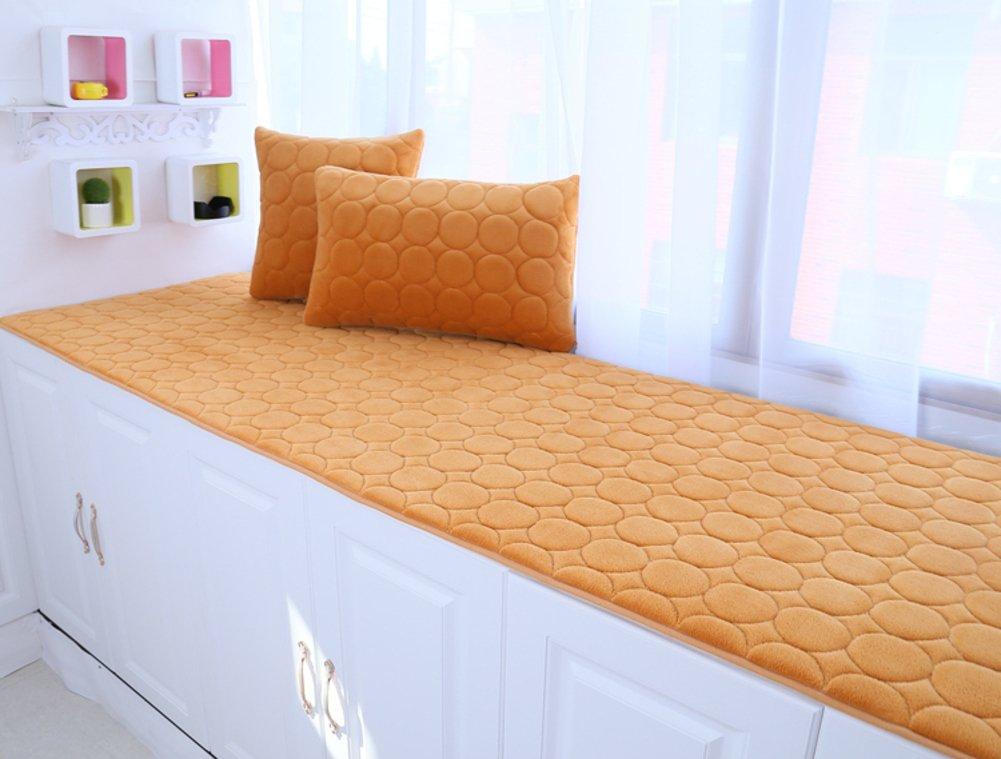 Thickened Sponge Bay window sill pad,Modern Anti-skid Bay window cushion Window sill mat tatami bench mat machine washable-B 50x200cm(20x79inch)