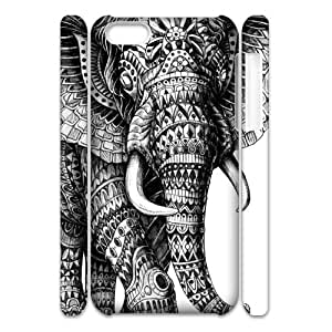 ALICASE Design Diy hard Case Elephant Aztec Tribal For Iphone 4/4s [Pattern-6]