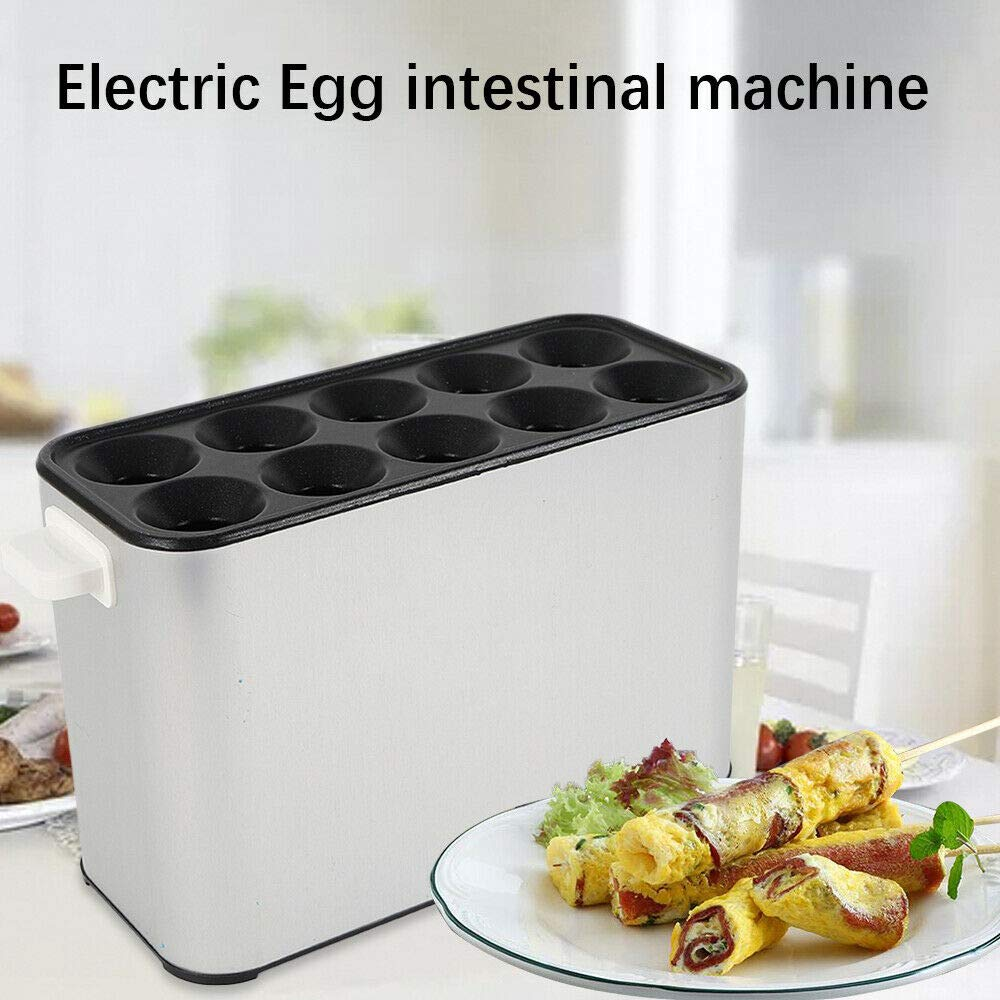 WUPYI 110V 1400W Electric Automatic Egg Roll Maker,Egg Master Roll Maker Breakfast DIY Egg Roll Machine Egg Roll Cooker Sausage Machine Egg Tools Home Commercial by WUPYI (Image #1)