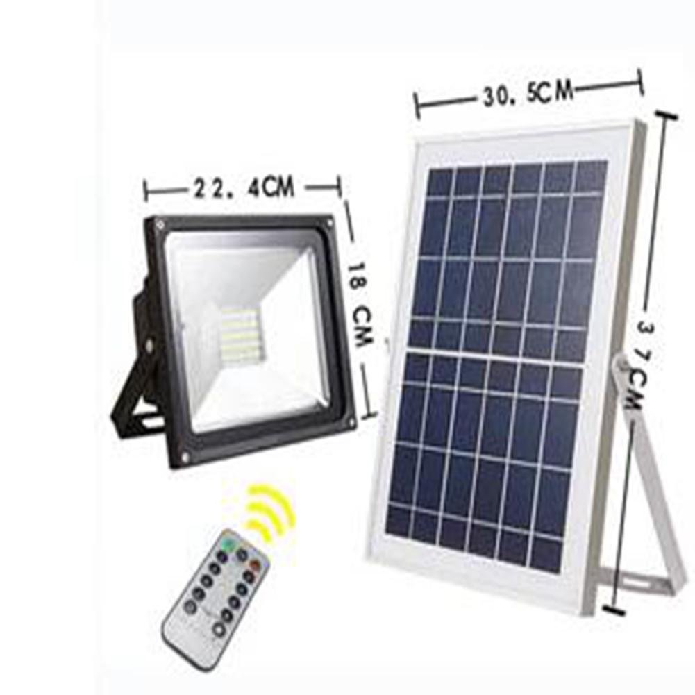 JIN Solar Flood Light Home Led Garden Lights Outdoor Lawn Integrated Solar Street Light , 100led 50w by FDJKBD
