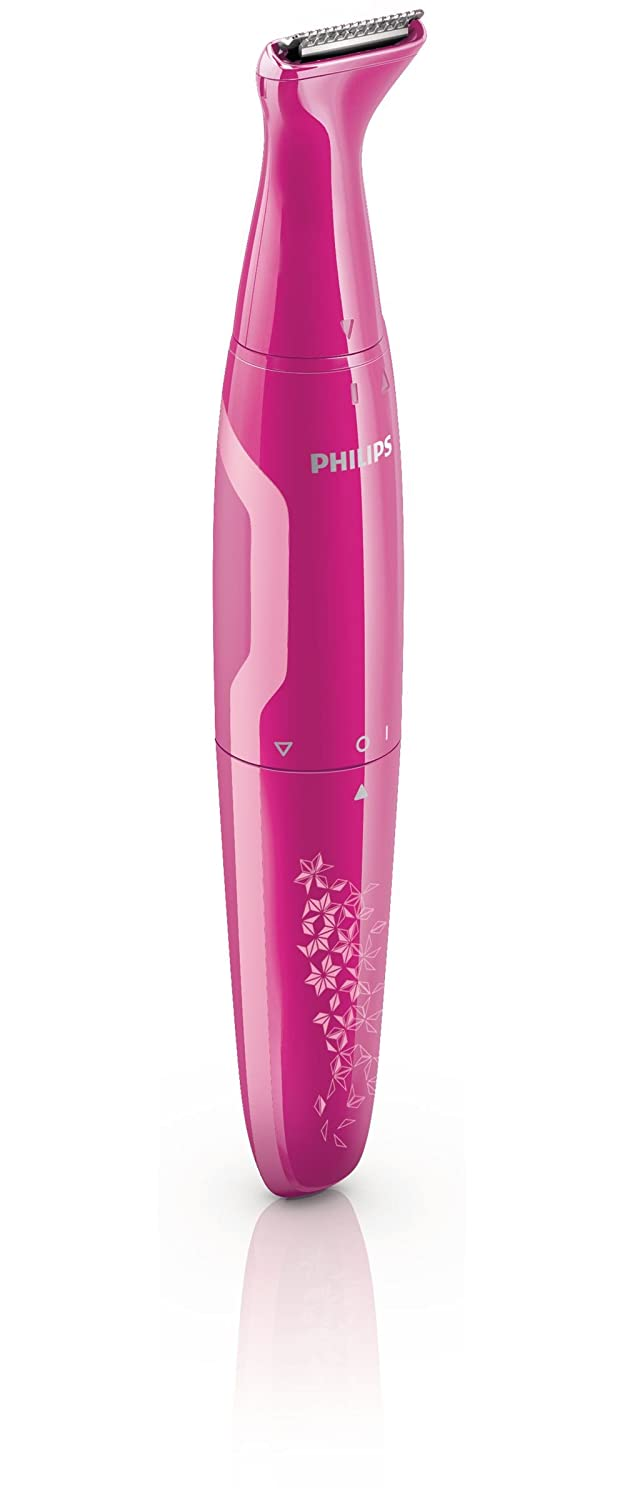 Philips HP6381/20 Hot Pink Battery Operated Bikini Hair Trimmer - Shapes, Trim and Style