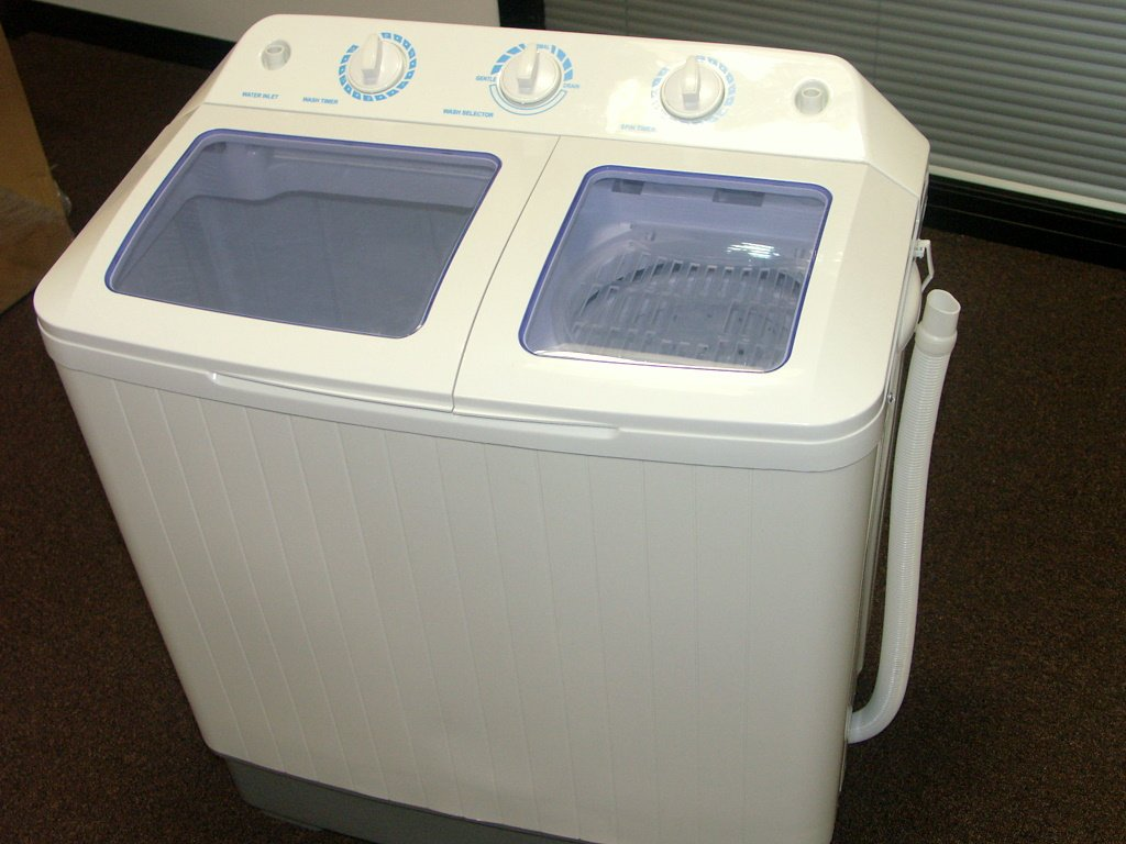 Mini Clothes Washer Large 58kg Portable Twin Tub Washing Machine And Spin Dryer With