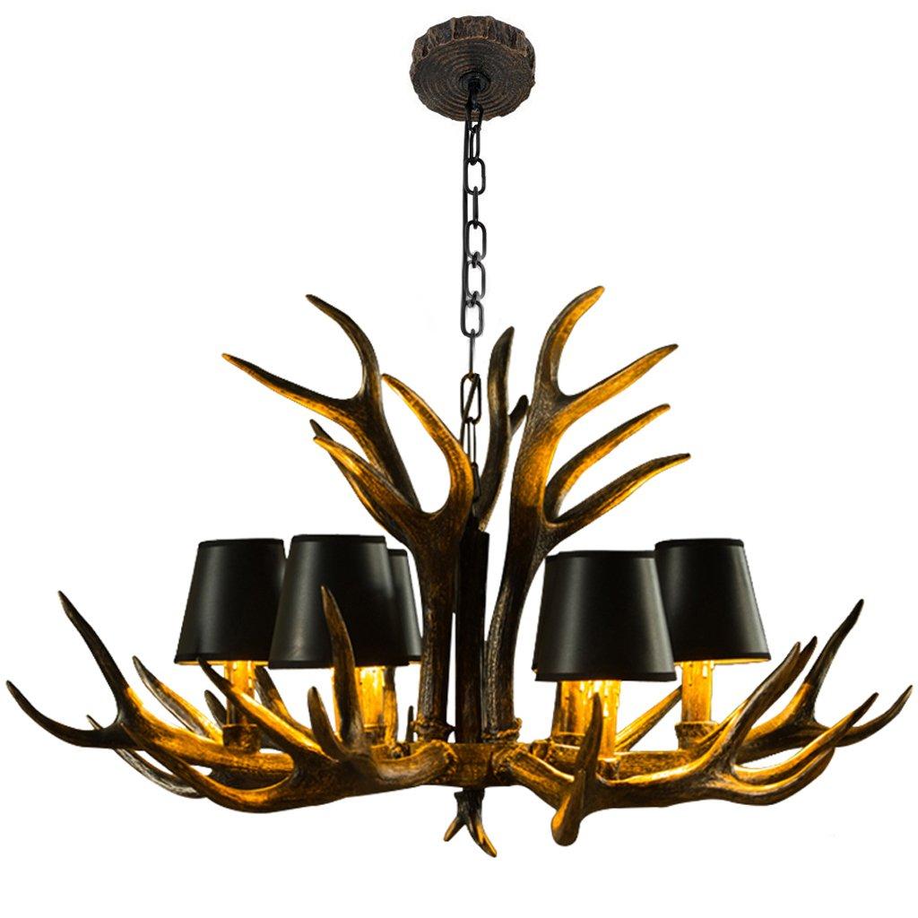 & Perfect ** - Continental harz pastoralen kronleuchter bekleidungsgeschäft lampen geweih lampe luxus atmosphäre schwarz lampenschirm kunst wohnzimmer lampe