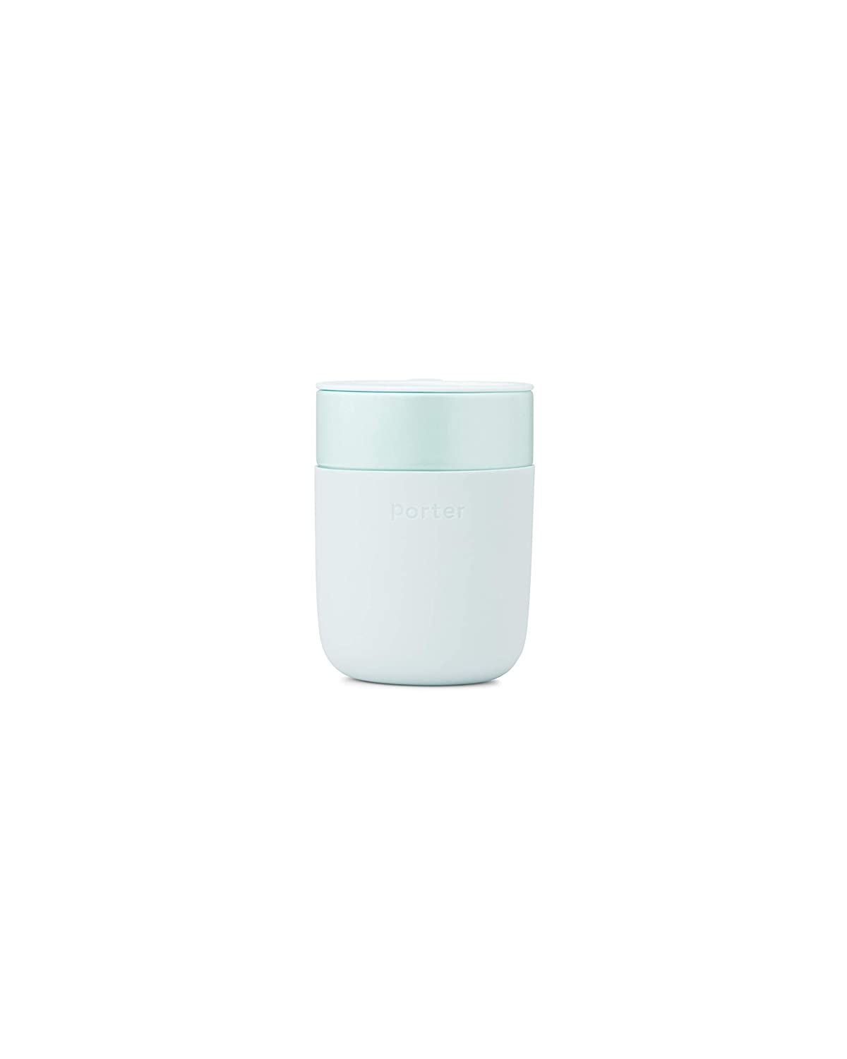 W&P Porter Ceramic Mug w/ Protective Silicone Sleeve, Mint 12 Ounces | On-the-Go | No Seal Tight | Reusable Cup for Coffee or Tea | Portable | Dishwasher Safe