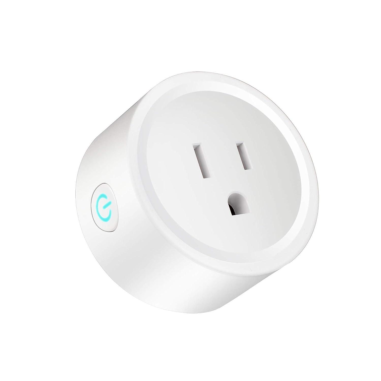 Enchufe Inteligente Mini Enchufe de Salida de WiFi Funciona con ...