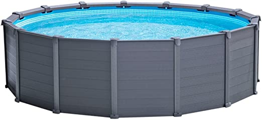 Intex Graphite Panel Piscina Desmontable, 16.805 litros, Gris, : Amazon.es: Jardín