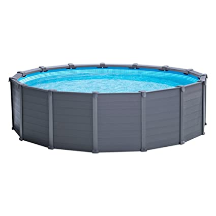Intex 26382NP - Piscina desmontable Graphite Grey Panel 478 x 124 cm, 16.805 litros: Amazon.es: Jardín