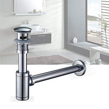 Auralum bonde pop up évier lavabo avec trop plein siphon lavabo pour