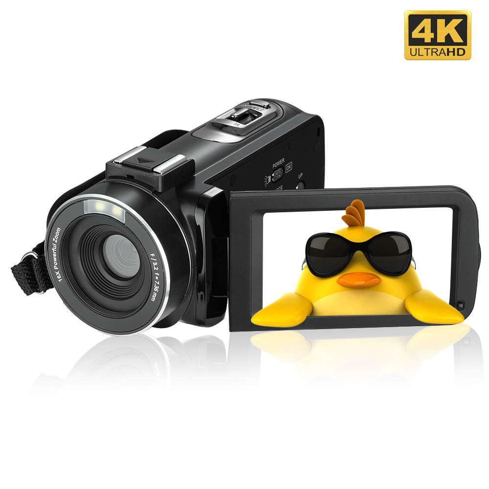 4K Camcorder Video Camera,Regemoudal 1080P 4k 128GB 48MP 3 Inch WiFi Digital Video Camera Camcorder,Capactive Touchscreen IR Infrared Night Vision 16X Digital Zoom Recorder by RegeMoudal