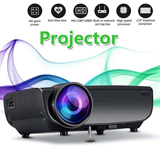 ZXGHS Proyector Mini, Portátil Mini Proyector LED 3D TV / 800 ...