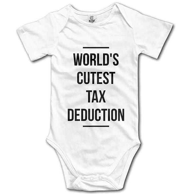 6c6401a1808be Amazon.com: Lodve Hvst World's Cutest Tax Deduction Bodysuit Infant ...