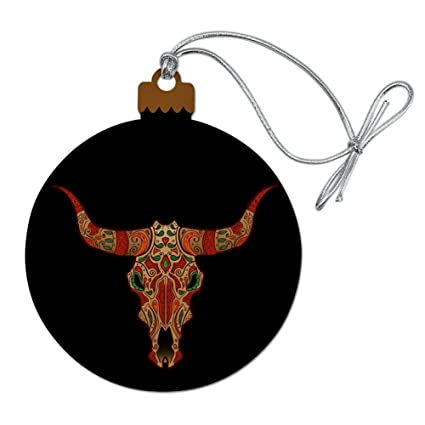 Amazoncom Graphics More Bull Skull Day Of The Dead Wood