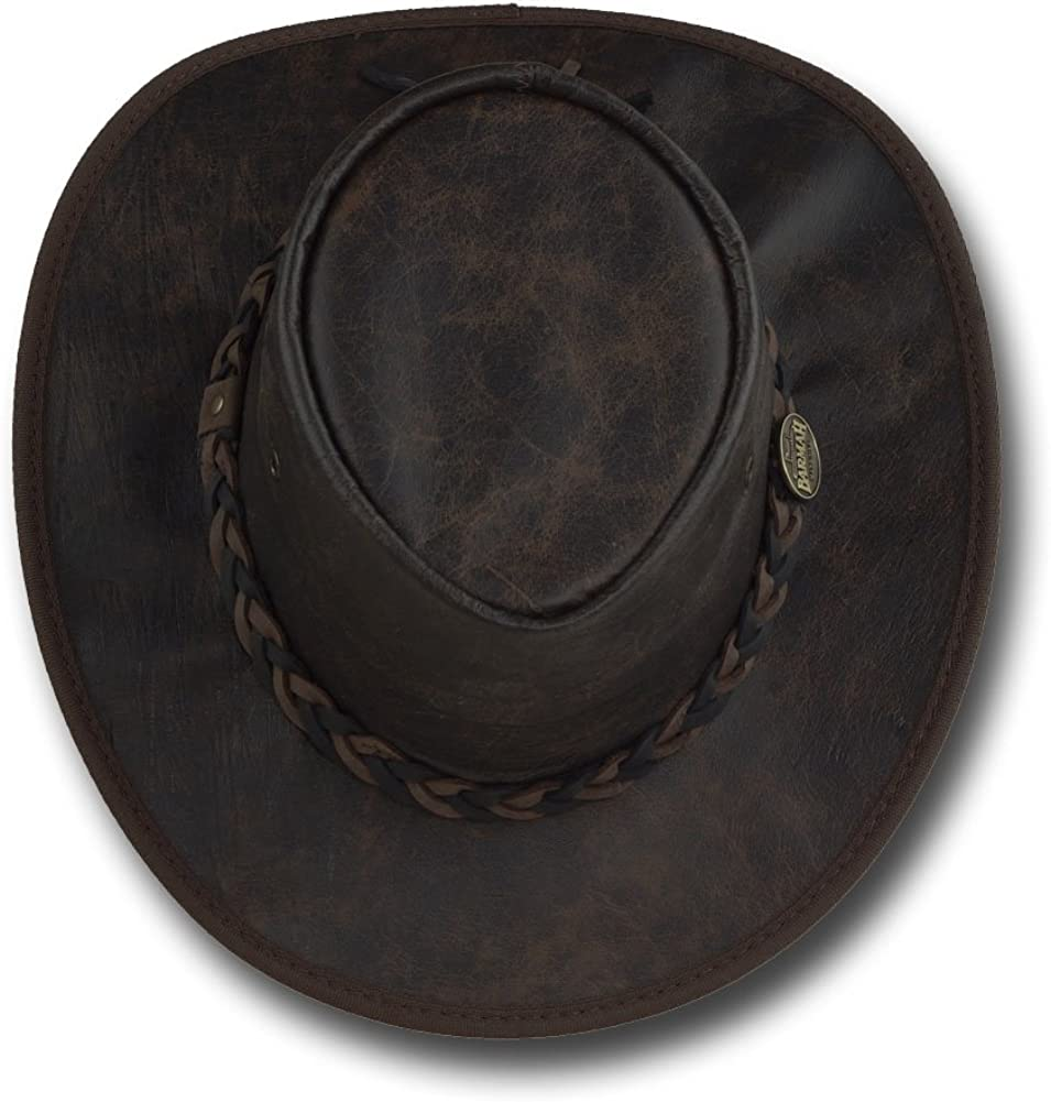 Barmah Hats Vintage Kangaroo Leather Hat Item 1018
