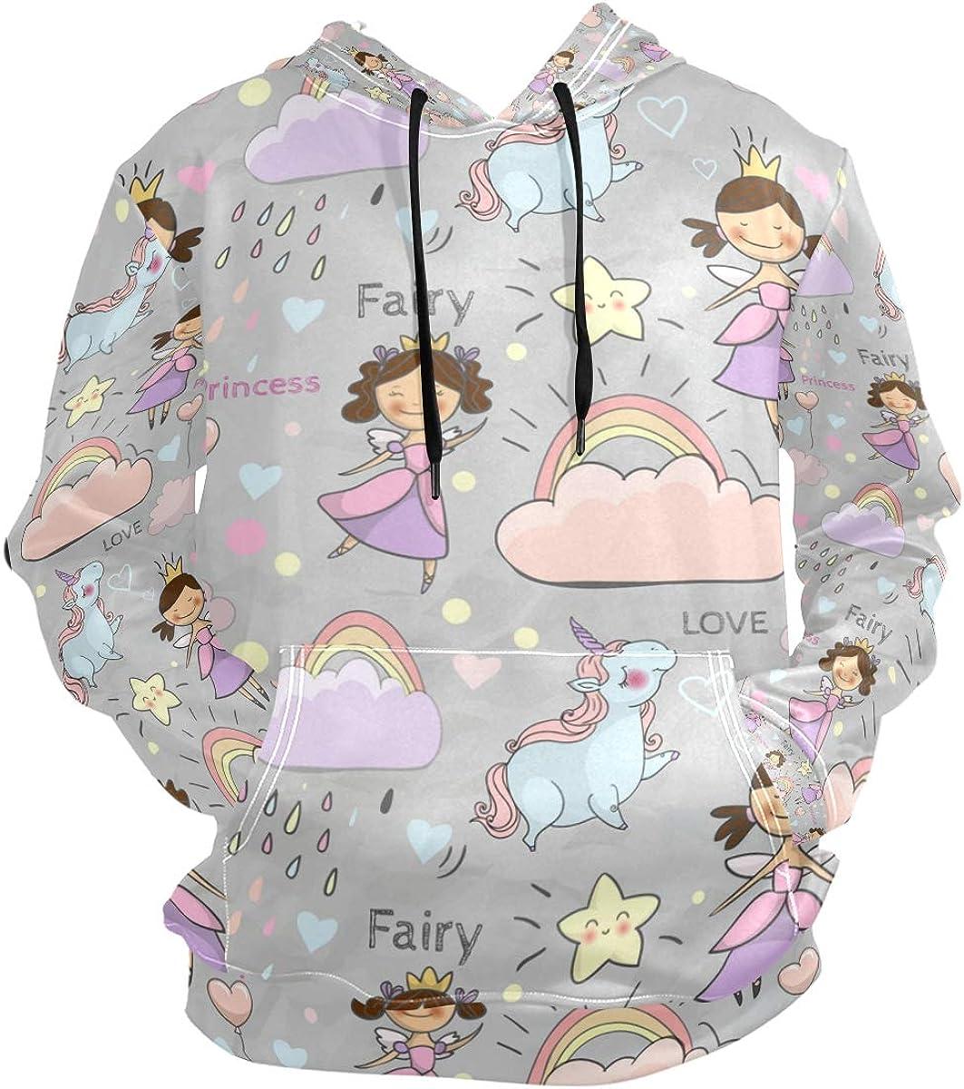 Arilce Cute Fairytale Pattern,Sweaters Fashion Hoodies Sweatshirts Unisex,Men Women Boy Girl Kid Youth