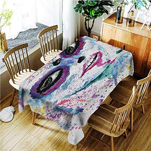 TT.HOME Custom Tablecloth,Girls Grunge Halloween Lady with Sugar
