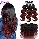 Ombre Brazilian Hair Body Wave Bundles 3pcs,Ombre Brazilian Virgin Hair Human Hair Weave