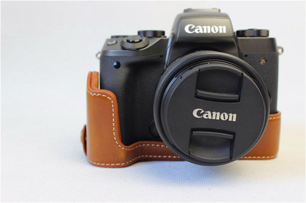 Zakao - Funda de piel sintética para cámara Canon Eos M5 (apertura ...