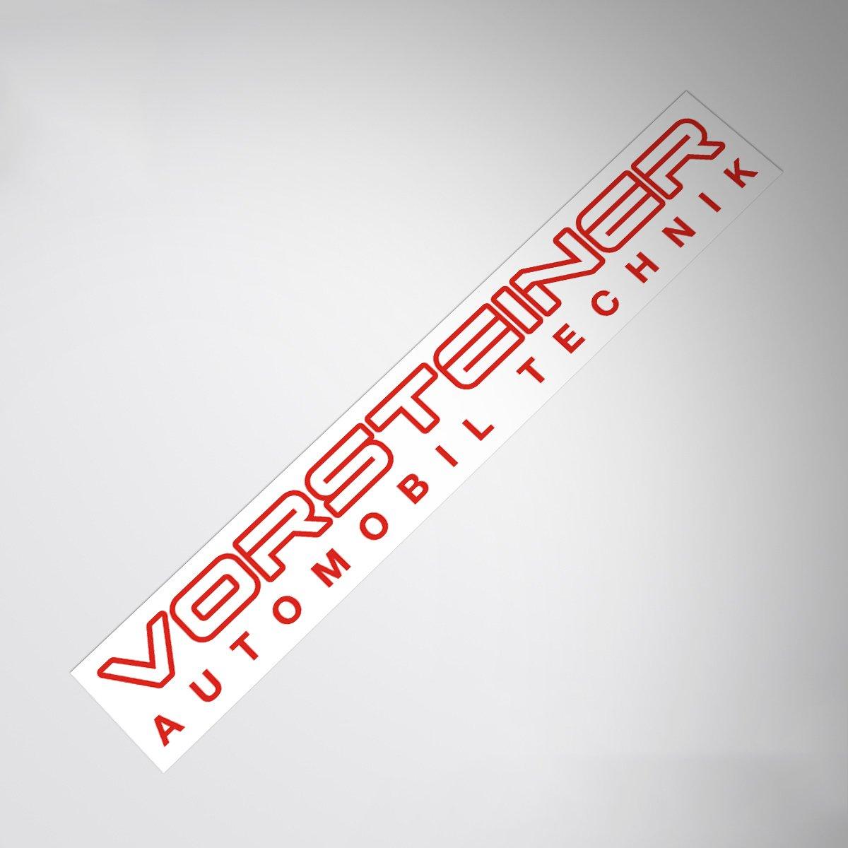 Demupai Windshield Banner Decal Vinyl Car Stickers for Vorsteiner Refitting Vehicle Black Letter