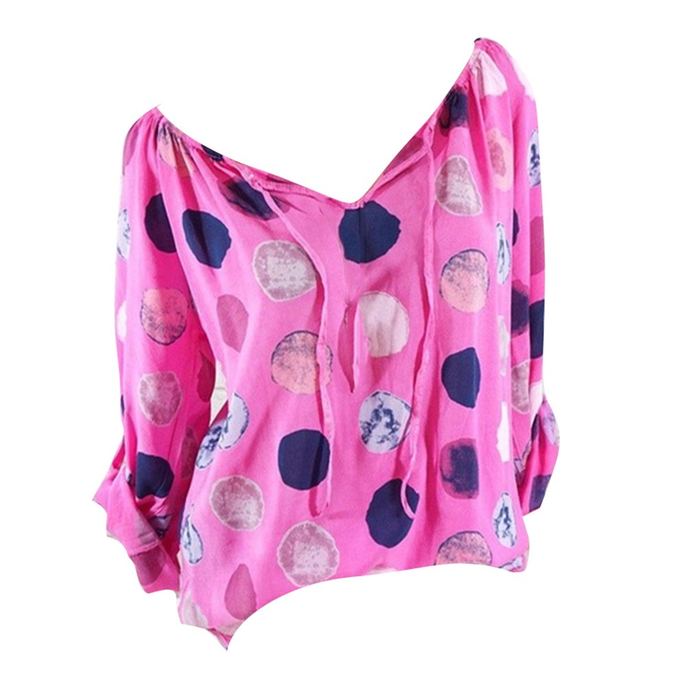 juqilu Felpe Donna, Magliette da Donna Scollo a V Felpe Casual Autunno Elegante Camicia a Maniche Lunghe di Base Magliette Allentate Pullover Blouse Tops T-Shirt P180312T18-lu