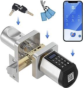 WE.LOCK Smart Lock, Keypad Door Knob with Bluetooth, Door Locks with Keypads, Digital Door Knob with APP for Home Hotel Garage Interior Doors
