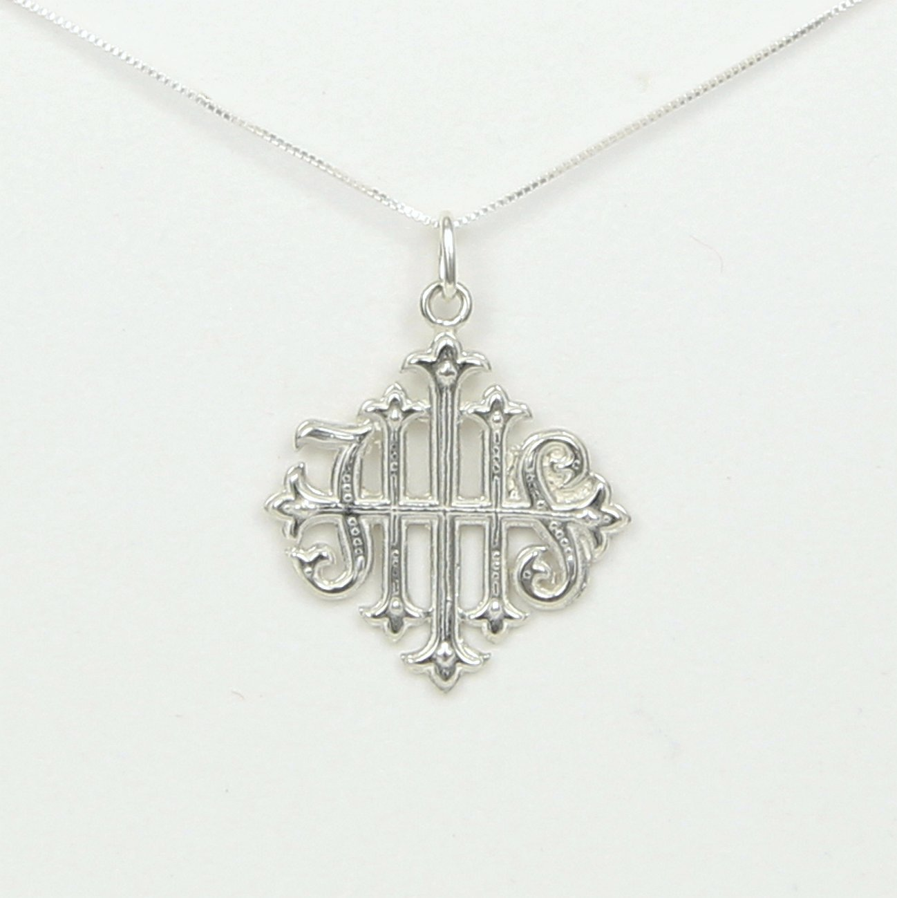 Amazon christogram ihs cross ancient christian symbol amazon christogram ihs cross ancient christian symbol latin for jesus savior of men story card sterling silver usa handmade biocorpaavc Choice Image