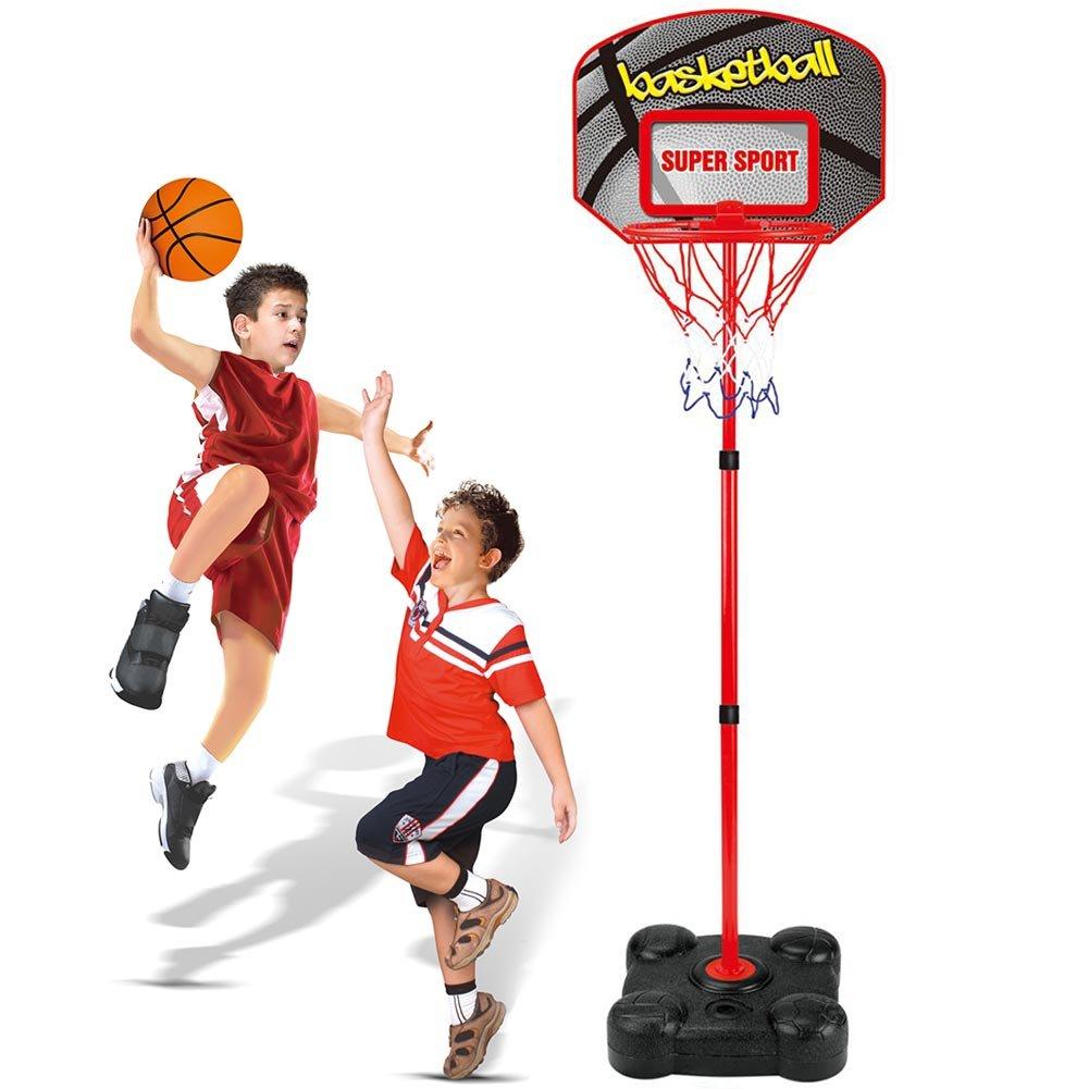 BAKAJI 8050534662979 - Basket de pie para niños con balón, Base de ...