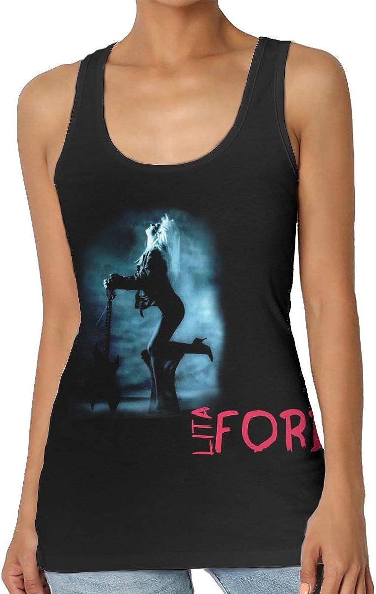 DaihAnle Lita Ford Women's Sexy Vest Fashion Shirt Vest T-Shirt