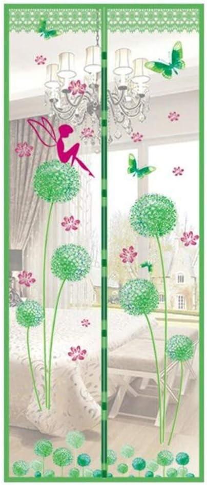 Cortina de dormitorio de la casa de verano cortina de ducha de tul electromagnética antimosquitos cierra automáticamente la gasa de la puerta estilo de verano neto A4 W80xH210